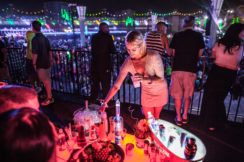 Bottle Service at Marquee Skydeck EDC Week